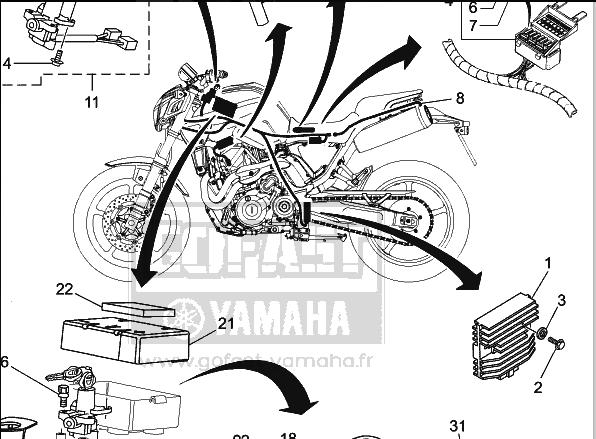 beaucoup de choix de dessins attrayants bas prix MT-03) Salta il fusibile 4 (Accensione) - MT-03 Impianto ...