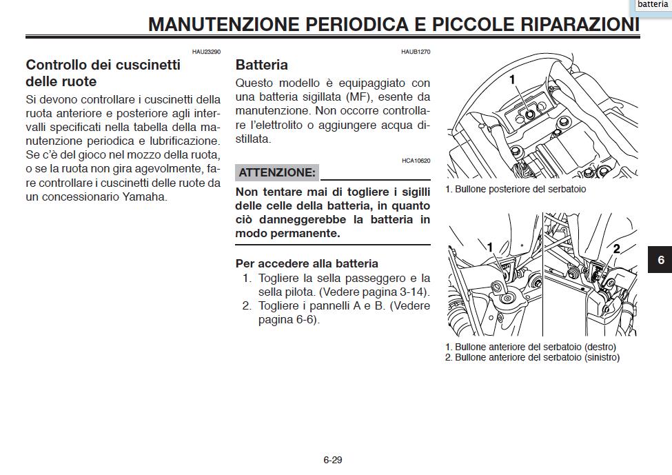 gamme complète de spécifications sélectionner pour dernier très convoité gamme de MT-03) Batteria - MT-03 Impianto elettrico - MT-SERIES CLUB ...